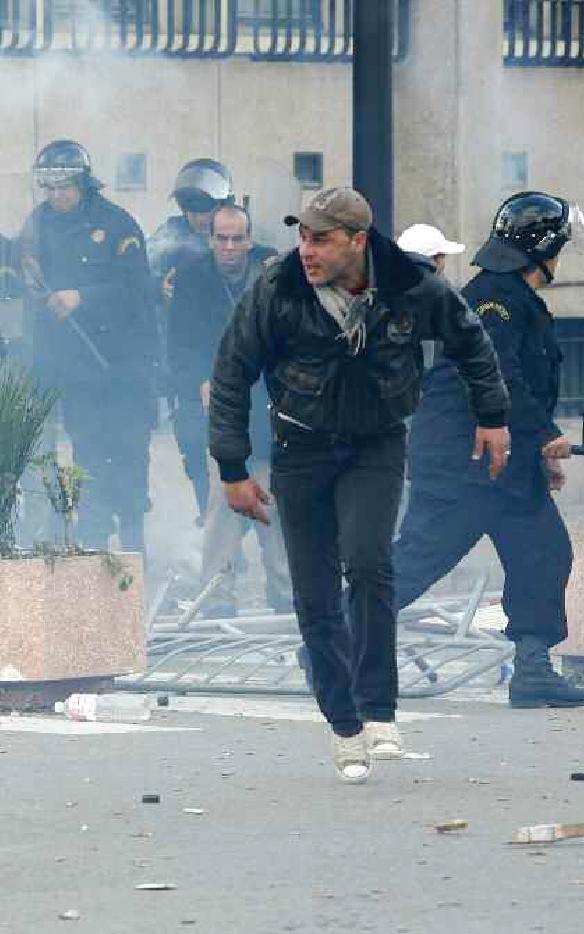 Riots in Tunis