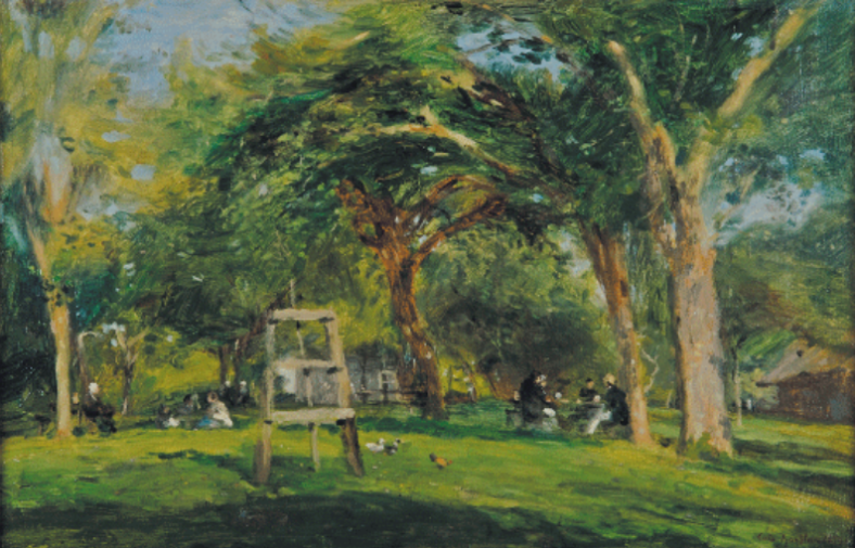 Adolphe-Félix Cals -Scène de la vie quotidienne des peintres installés à la ferme St-Siméon