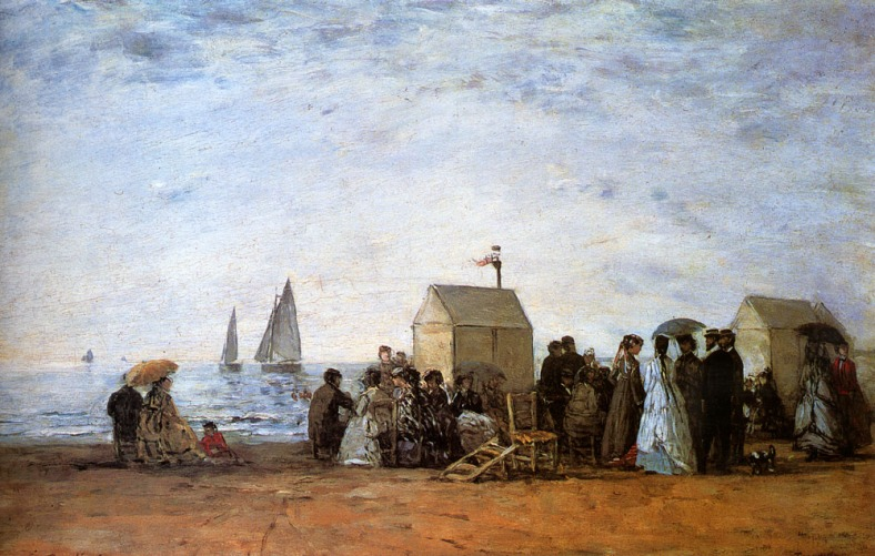 Boudin Eugene -The beach at Trouville 1864