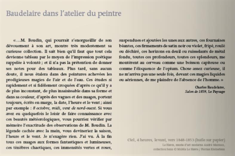 Boudin par Baudelaire