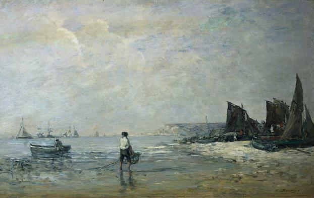 Boudin -Pêcheur a Vilerville vers 1862
