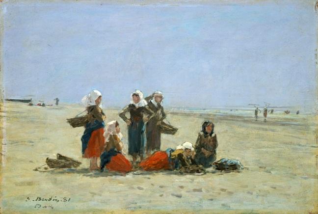 Boudin -Pêcheuses sur la plage de Berck Washington National Gallery 1881