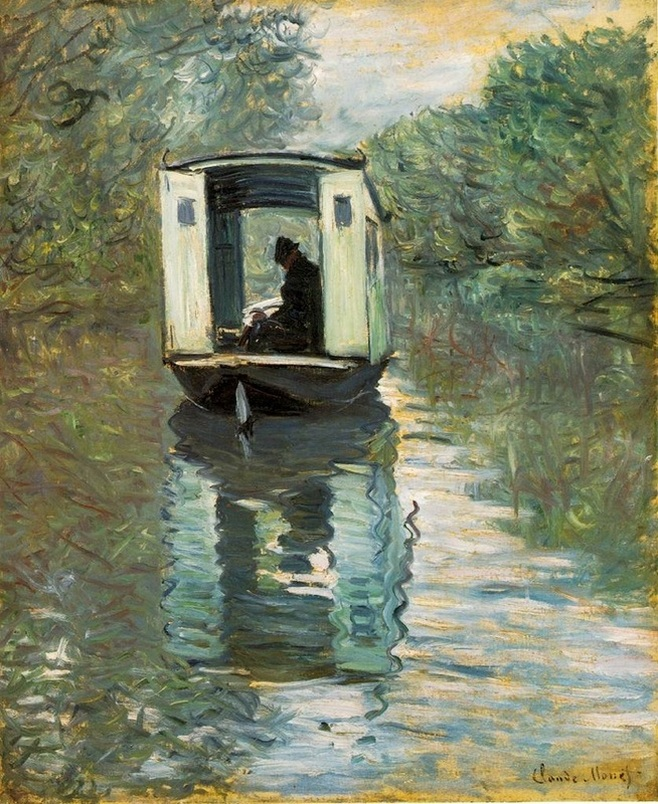 Claude Monet -The Boat Studio
