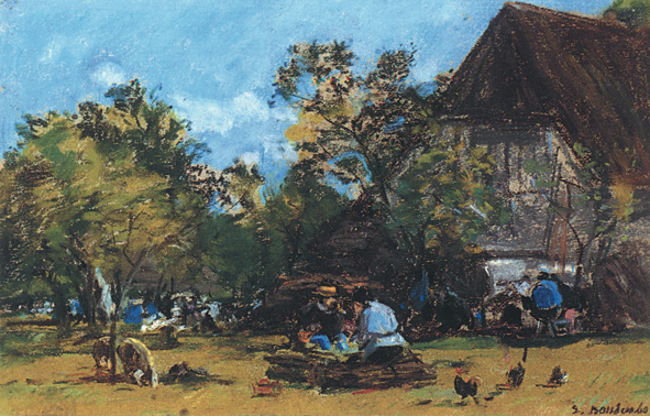Eugène Boudin -La ferme Saint-Siméon 1860