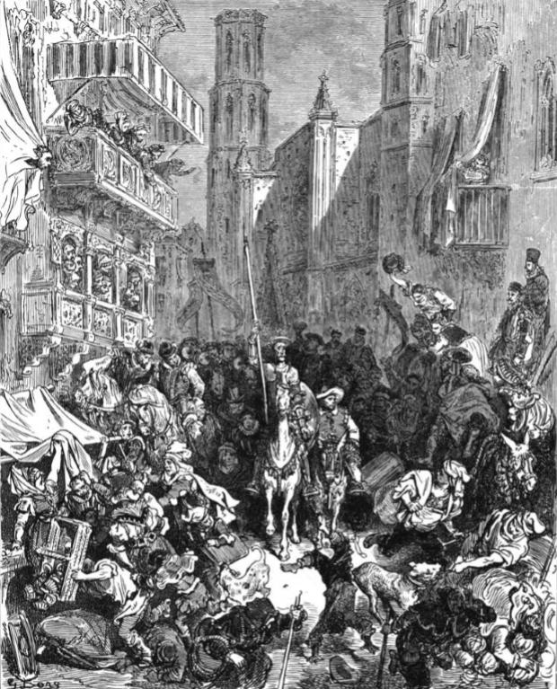 Gustave Doré -Ilustración para El Quijote (7)