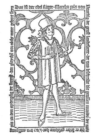 Marco Polo -gravat al boix Nuremberg 1477