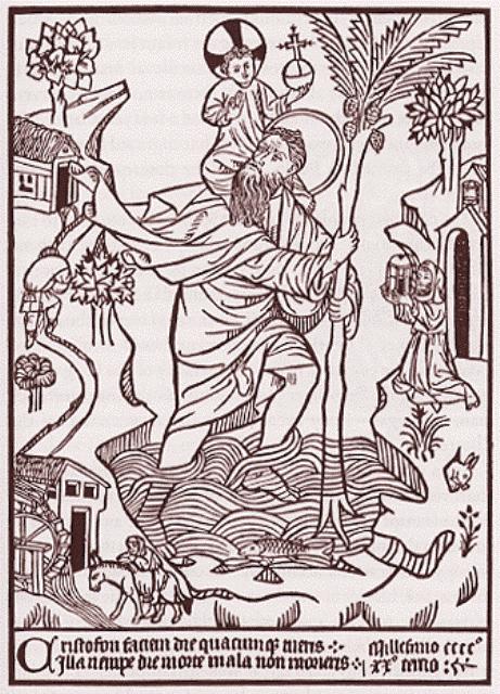Xilografía de San Cristóbal 1423