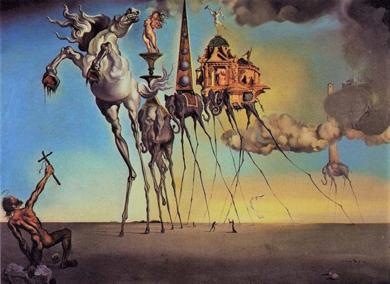 salvador dali -temptation of saint anthony 1946