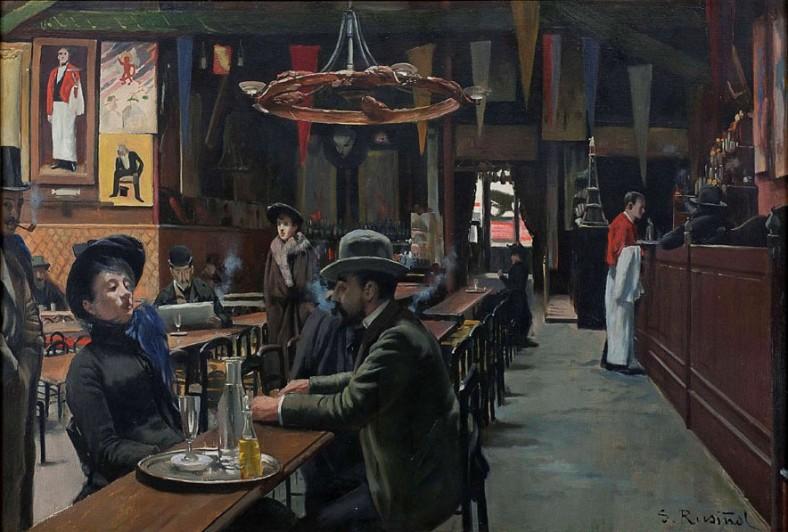 Santiago Rusiñol -Café des Incohérents 1889-90