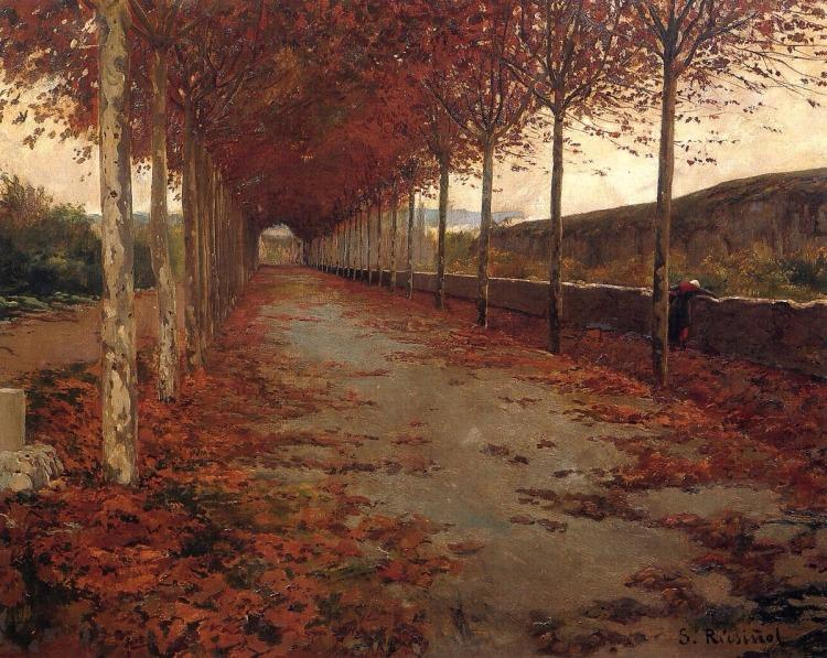 Santiago Rusiñol -Carretera en otoño 1888