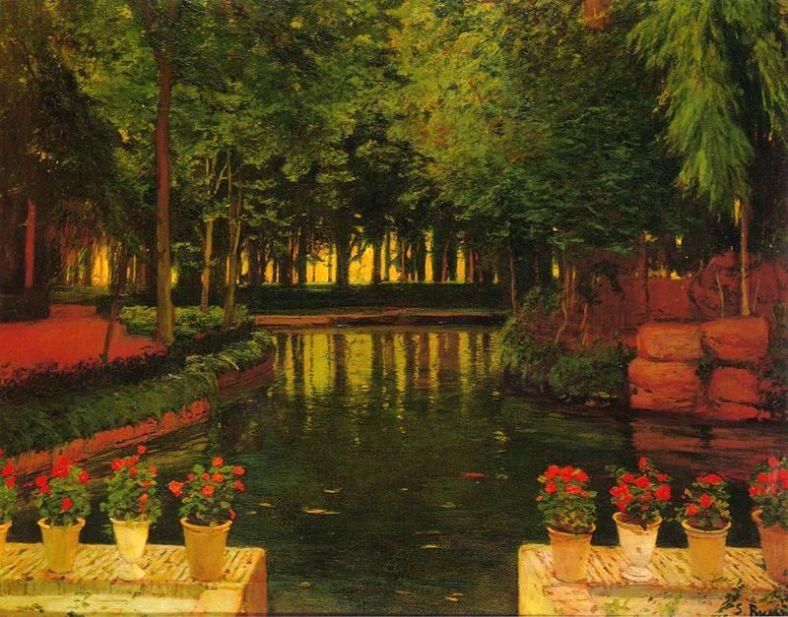Santiago Rusiñol -Jardins d'Aranjuez 1913
