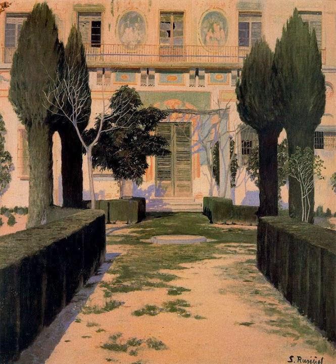 Santiago Rusiñol Prats -Jardin del Palacio de Viznar