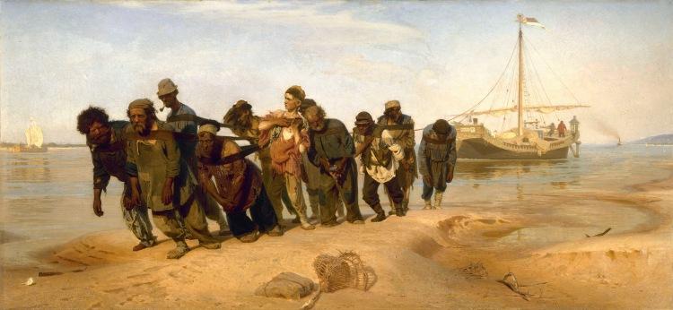 Ilia Repin - Volga Boatmen 1870-73