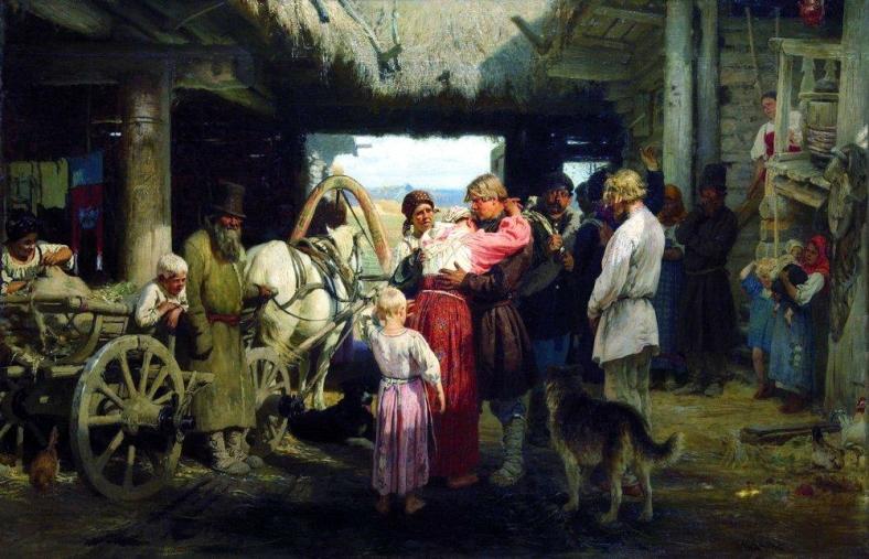 Iliá Repin -Seeing recruit 1879