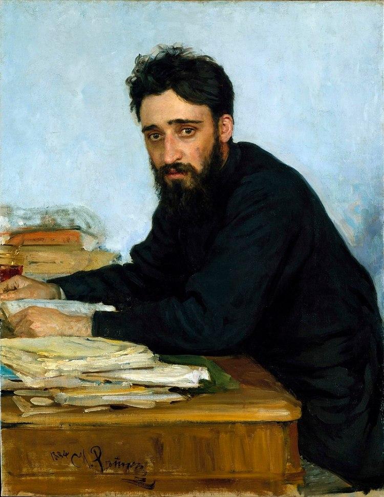 Ilya Repin -Retrat de l'escriptor Vsévolod Garshin 1884