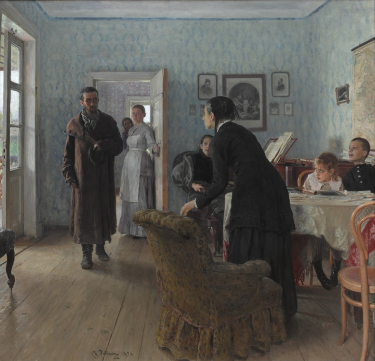 Ilya Repin -They did not expect him 1884-88,