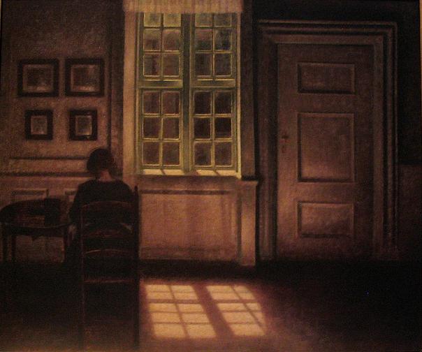 Hammershoi -Woman in interior