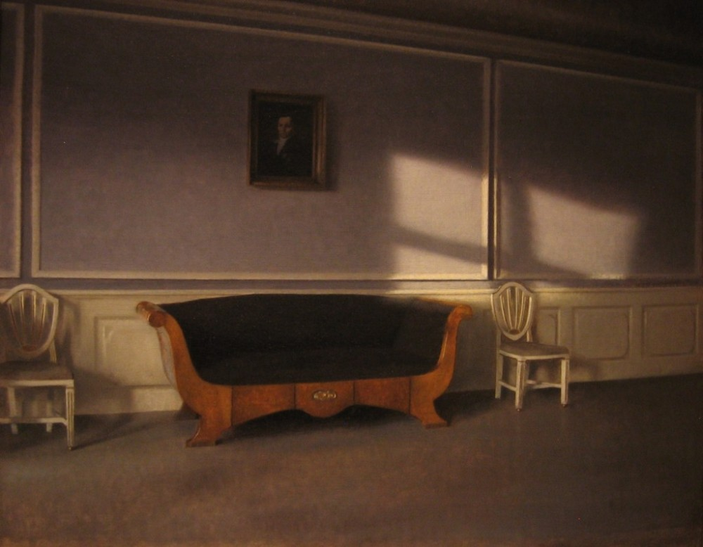 Vilhelm Hammershoi -Sunshine in the Drawing Room III 1903 National Museum Stockholm