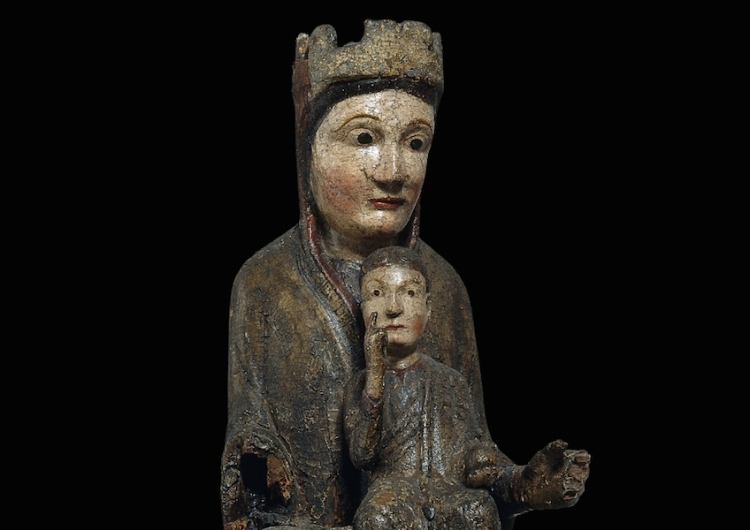 Detail, Virgin from Gósol, 12th century MNAC