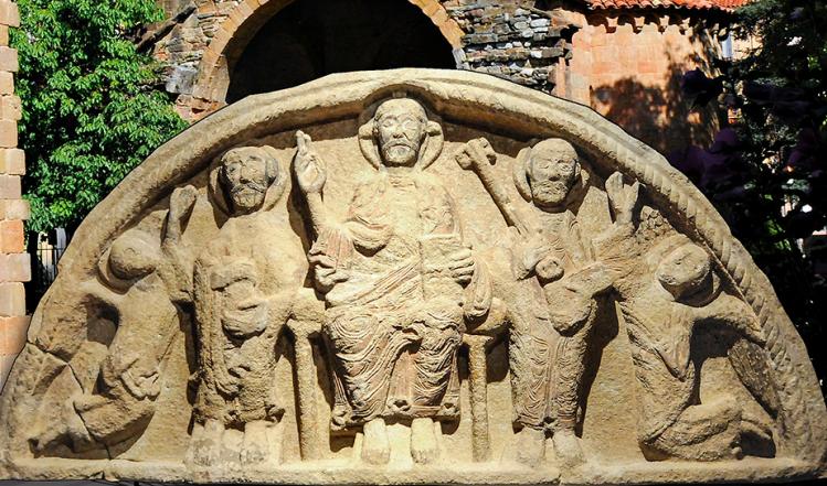 Església de Sant Pol de Sant Joan de les Abadesses, timpà s. XII