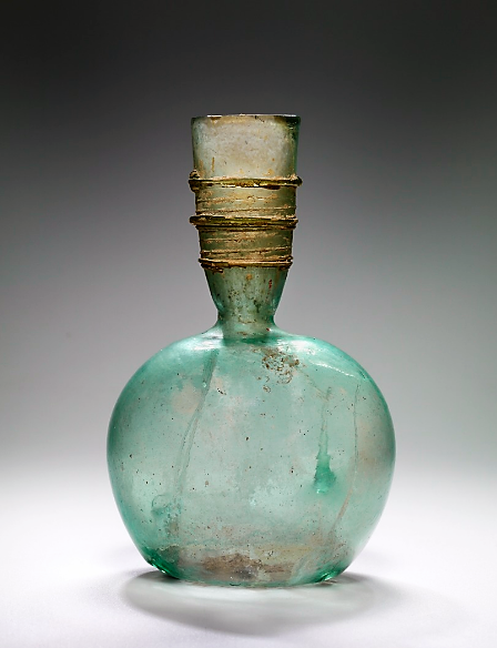 Glass roman flask -Syria s. IV