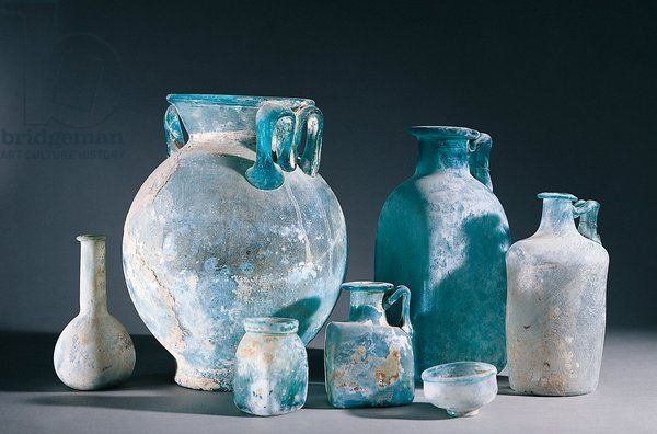 Glass vases from Pompei - Museo Arch. Naz. -Napoli