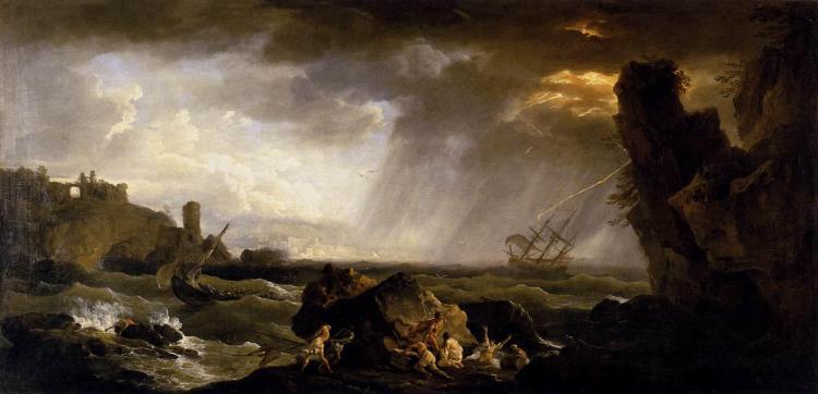 Vernet Claude Joseph -Seascape Tempest