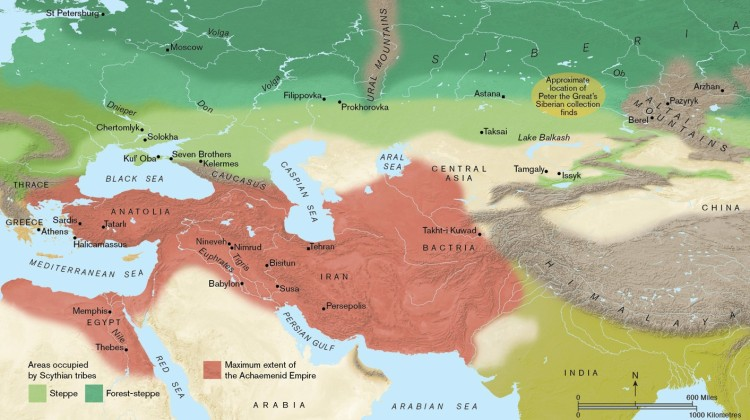 02 Areas occupied by the Scythian tribes