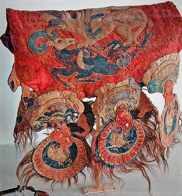 Saddle cover from Altai 3 Pazyryk tombs
